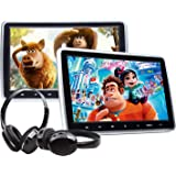"2020 Car Portable DVD Player, 10.1"" Car DVD Player with 2 Headphones, Support Same/Different Video Playing/AV Out & in HDMI U"