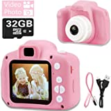 Hoiidel Kids Camera toy, Children Digital Video Camcorder Camera, 2 Inch 1080P Rechargeable Action Camera, Birthday Christmas