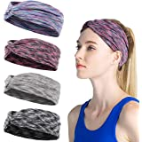 Turban Headbands for Women Knotted Hairbands Wide Soft Elastic 4pcs / Set for Yoga Home Leisure