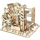 ROKR コースター 水車 コグ 歯車 立体パズル 機械模型マニア ギア 手回し 木製 クラフト プレゼント (リフト)