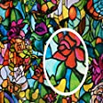 "d-c-fix 346-0647 Decorative Self-Adhesive Window Film, Spring Chapel/Tulia, 17.71"" x 78"" Roll"