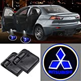 2Pcs For HD LED Mitsubishi Logo Car Door Projection Lights, Welcome Ghost Shadow Lamp Fit for Mitsubishi Cars