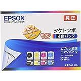 エプソン 純正 インクボトル タケトンボ TAK-4CL 4色パック