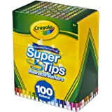 Crayola 58-5100 Super Tips Washable Markers, 100 Count, Bulk