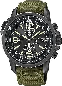 [セイコー]SEIKO 腕時計 PROSPEX SOLAR CHRONOGRAPH プロスペックス ソーラー クロノグラフ ミリタリー SSC295P1 メンズ [逆輸入]