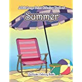 Large Print Coloring Book for Adults of Summer: A Simple and Easy Summer Coloring Book for Adults with Beach Scenes, Ocean Li