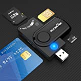 USB 3.0 Smart Card Reader, Rocketek CAC/DOD Military Multi-Card Reader, SDHC/SDXC/SD&Micro SD Card Reader for SIM and MMC RS