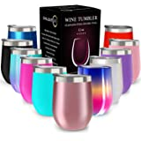 CHILLOUT LIFE 12 oz Stainless Steel Tumbler with Lid & Gift Box | Wine Tumbler Double Wall Vacuum Insulated Travel Tumbler Cu
