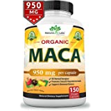 Organic Maca Root Black, Red, Yellow 1900 MG - 150 Vegan Capsules Peruvian Maca Root Gelatinized 100% Pure Non-GMO Supports R