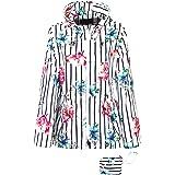 Tailory Women's Lightweight Cool Waterproof Adjustable Printing Fashion Trend Hooded Outdoor Windbreaker