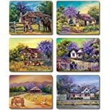 Country Kitchen Jacaranda House Cinnamon Cork Backed Placemats Set 6