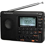 Retekess V-115 Radio AM/FM Stereo with Portable Shortwave Transistor MP3 Player REC Voice Recorder Support T-Flash Card and S