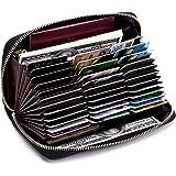 [imeetu] カードケース じゃばら L型 72枚収納 大容量 牛本革 磁気防止 スキミング防止 メンズ レディース