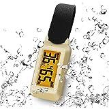 ドリテック(dretec) 温湿度計 ブライン 防滴 熱中症/インフルエンザ警告レベル表示 時計機能 バックライト ポータブル O-299BEDI ベージュ