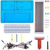 kuman Raspberry Pi 4 B Holder Breadboard Kit, 7 in 1 RAB Holder kit Compatible for Arduino, Mega 2560 & Raspberry Pi 3 Model