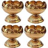 CRAFTSMAN Crafts'man (6PC) Pure Virgin Brass Diwali Puja Jyoti Diya Indian Pooja Oil Lamp Dia. Deepawali Diya/Oil Lamp/Candle