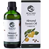 HEALTREE Sweet Almond Carrier Oil 100ml (100% Pure & Natural Australian Cold Pressed Virgin Grade) | Gentle on Scalp for Hair