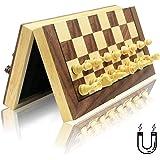 チェスセット 木製 磁石式 国際将棋 日本語の取扱説明書 GYBBER&MUMU 折りたたむボード マグネット 収納可…