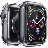 Penom Case for New Apple Watch SE Series 6 Screen Protector 44mm(2020), Apple Watch Series 5 Series 4 Case (44mm, Black)