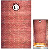 Platform 9 And 3/4 King's Cross Station Red Brick Wall Party Backdrop, Secret Passage To The Magic School Decorative,Fabric 5