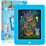 Obuby Kids Light Up Drawing Board Magic Pad Draw Tracing with 9 Light Effects LED Sketch Tablet Glow in The Dark Art Doodle C