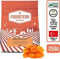 Foodsterr Whole Dried Apricots, 250g