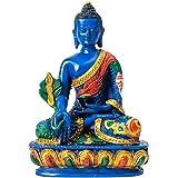 Tibetan Healing Medicine Buddha Statue Hand Painted Nepal (Medicine Buddha)