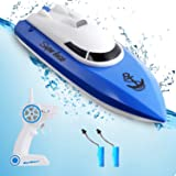 Remote Control Boats for Pools and Lakes,12+ mph High Speed RC Boat with Rechargeable Battery, 2.4 GHz Outdoor Adventure Elec