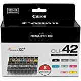 Canon CLI-42 8 PK Value Pack Ink, 8 Pack Compatible to PIXMA PRO-100