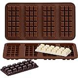 Webake Chocolate Bar Mold Silicone Break-Apart Candy Molds for 1 Ounce Chocolate Chunk Protein Energy Bar Candy Bar, Food Gra