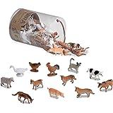 "Battat Terra Farm Animals in Tube Action Figure Set, Multi, ""3.5"""""" (AN6001Z)"