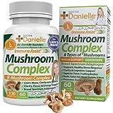 Best Organic Mushroom Complex - Immune Assist Support - Lion's Mane, Cordyceps and Reishi - Adaptogen Supplement - Wellness,