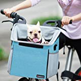 Pet Carrier Bicycle Basket Bag Pet Carrier/Booster Backpack for Dogs and Cats with Big Side Pockets,Comfy & Padded Shoulder S