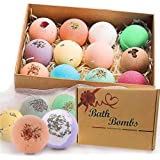 Bath Bombs Gift Set, JRINTL 12 made Fizzies, Shea & Coco Butter Dry Skin Moisturize, Perfect for Bubble & Spa Bath. Handmade