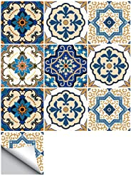 eroute66 Peel and Stick Tiles-Moroccan Style Stick on Tiles Backsplash Peel and Stick Wallpaper for Kitchen 10Pcs 2020cm