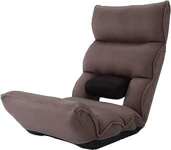 明光ホームテック 腰の神様がくれた座椅子 [ ブラウン / 14段階可動する腰パーツ ] (累計30万人が愛用) DMZ-アロー