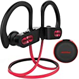 Mpow Flame [Upgraded] Bluetooth Headphones, IPX7 Waterproof Richer Bass Stereo Wireless Sports Earbuds w/Mic, 10~12H Battery