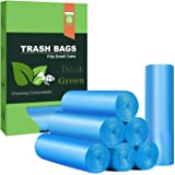 Small Trash Bags 4 Gallon Biodegradable Garbage Bags 100 Counts,Unscented Leak Proof Compostable Bags Wastebasket Liners for