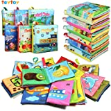 teytoy My First Soft Book, Nontoxic Fabric Baby Cloth Books Early Education Toys Activity Crinkle Cloth Book for Toddler, Inf