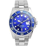 [HYAKUICHI 101] ダイバーズウォッチ 日付表示 20気圧防水 腕時計 HYAKU1-001 (ブルー)