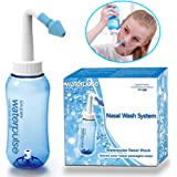 300ml Nasal Rinse Bottle Sinus Irrigation Nose Wash System Nose Cleaner Neti Pot Cleanser for Allergic Rhinitis Mucus Produce