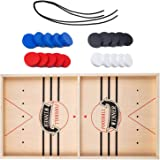 Fast Sling Puck Game,Wooden Hockey Game Table Game,Catapult Chess Bumper Slingshot Table Ice Hockey Winner Board Party Game T