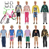 EuTengHao 26 Pcs Doll Clothes and Accessories for Ken Dolls Includes 20 Different Wear Clothes Shirt Jeans Set for Barbie Ken