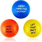 Motivational Stress Balls for Adults Anxiety Stress Relief Hand Therapy Exerciser Squeeze Fidget Toy Strengthener (3pack)