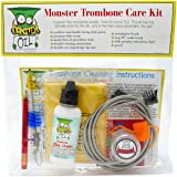 Monster Trombone Care and Cleaning Kit | Slide Cream, Slide Grease, Mouthpiece Brush. Everything You Need to Take Care of and