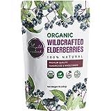 100% USDA Certified Organic Whole Dried Elderberries (Sambucus Nigra) | 1lb bag | Premium Quality | European Wildcrafted | Na