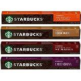 [STARBUCKS by NESPRESSO] スターバックス ネスプレッソ カプセルコーヒー 4種×10カプセル×= 40カプセル [並行輸入品]