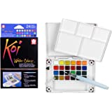 Sakura XNCW-24N Koi 24 Assorted Watercolors Field Sketch Set with Brush