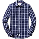 CQR Women's Classic Fit Button Up Shirts, 100% Cotton Long Sleeve Casual Poplin Shirt