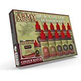 The Army Painter Warpaints Quickshade Wash Set - Miniature Painting Kit of 11 Dropper Bottles with Fluid Acrylic Paint Color